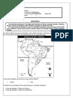 ATIVIDADE DE GEOGRAFIA ONLINE DE GEOGRAFIA PARA O DIA7 DE ABRIL EXERCÍCIO DE FIXAÇÃO