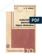 Materialismo Dialéctico y Lógica Dialéctica  Aleksandr Georgievich Spirkin
