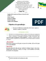 USO DE MAPAS CONCEPTUALES Y CUADROS SIPNOTICOS-GUIA 4° ESPAÑOL