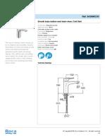 1. Faucet (single lever)