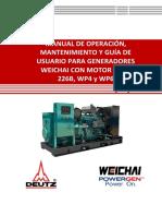 Manual de operación y Mantenimiento Generadores Terrestres 226B, WP4 y W...
