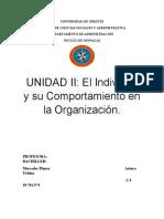 El Individuo y su Comportamiento en la Organización
