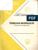 Indrumar Tehnologia materialelor