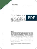 RIBEIRO, V. M. Que Princípio de Justiça Para a Educação Básica