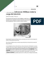 Física - _i_ Puntos de Referencia __i__ Millikan Mide La Carga Del Electrón