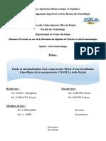Etude Et Automatisation d'Un Compresseur Bitzer d'Une Installation Frigorifique de La Margarineri