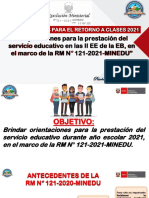 Orientaciones sobre la RM N° 121-2021-MINEDU