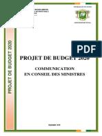 Projet de budget 2020