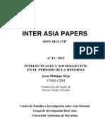 Beja-Sociedad civil e intelectuales   en el periodo de reformas