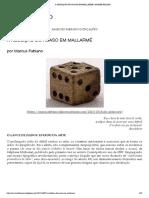 A ABOLIÇÃO DO ACASO EM MALLARMÉ _ ARAME FALADO
