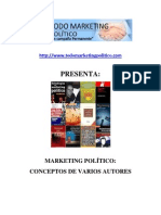 Marketing Politico, concepto de marketing politico, definicion de marketing politico, varios autores