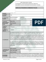 Informe Programa de Formación Titulada (3) cocina