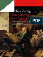 Zweig Stefan - Encuentros Con Libros