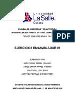 1 ejercicios ensamblador