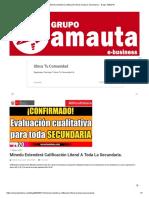 Minedu extenderá calificación literal a toda la Secundaria. - Grupo AMAUTA