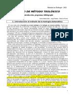Galli 0 - PROGRAMA Y BIBLIOGRAFÍA - MÉTODO TEOLÓGICO I -  2021
