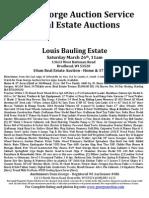 Louis Bauling Estate Auction