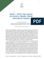 Leandro Sanchez Marin 2019 Marx Despues