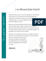 Prayer to Blessed John Paul II