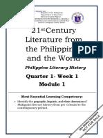 21st Century Lit Q1W1