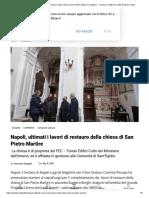 Napoli, ultimati i lavori di restauro della chiesa di San Pietro Martire _ La Milano - Cronaca e notizie da Città, Regioni e Italia