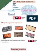 S03.s1- Uso Del Léxico Formal, Atildamiento, Mayúsculas y Minúsculas - 2021 MARZO.