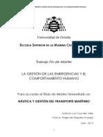 GESTION DE EMERGENCIAS Y COMPORTAMIENTO HUMANO