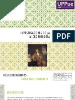 Investigadores de la microbiología