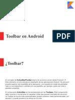Toolbar Kotlin
