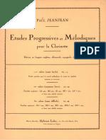 Etudes Progressives Et Mélodiques, Vol. I (Jeanjean, Paul)