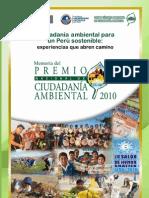 MEMORIA DEL PREMIO NACIONAL DE CIUDADANÍA AMBIENTAL 2010