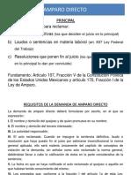PRESENTACION AMPARO DIRECTO
