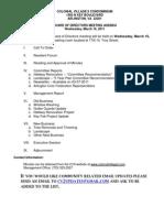 March 2011 Agenda