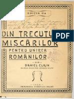 Din Trecutul Miscarilor Pentru Unirea Romanilor