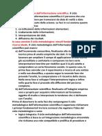 4 Il Ciclo Metodologico Dell'Informazione Scientifica
