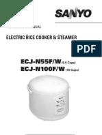 Sanyo - Electric Rice Cooker - ECJ-N55F
