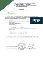 Surat Edaran Unt Cabang PGRI 2