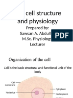 Cell structure and physiology