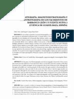 OMS et al. (2010) - Litoestratigrafía, magnetoestratigrafía y bioestratigrafía de BL y FN3