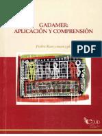 Karczmarczyk P. Gadamer, Aplicacion y Comprensión 2007