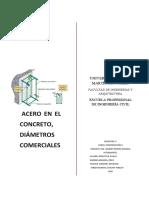 ACERO EN EL CONCRETO, DIÁMETROS COMERCIALES (1)