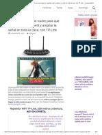 Como configurar un router para que haga de repetidor wifi y ampliar la señal en toda la casa, con TP-Link – CompartirWIFI