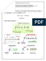 3. Potenciacion de Numeros Enteros (Matematica2do1era)