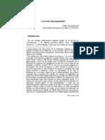 la noción de presupuesto Revista Tópicos, 2003