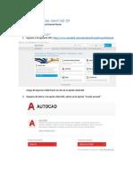 Taller Cómo y para qué puedo usar AutoCAD 2D