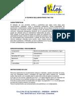 FICHA TECNICA SELLADOR PISOS TAK TAX-2015