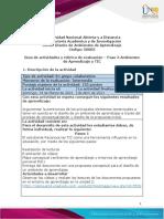 Guía de actividades y rúbrica de evaluación - Unidad 2 - Paso 3 -Ambientes de aprendizaje y Tic