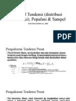 Sentral Tendensi (distribusi frekwensi), Populasi &