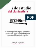 Guia de Estudio Del Clarinetista -Bienvenida