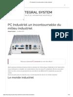 PC Industriel un incontournable du milieu industriel
